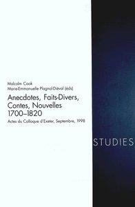 Anecdotes, Faits Divers, Contes, Nouvelles 1700-1820