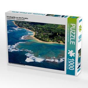 Urlaubsgrüße aus dem Paradies 1000 Teile Puzzle quer