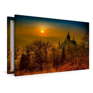 Premium Textil-Leinwand 120 cm x 80 cm quer Schloss Wernigerode