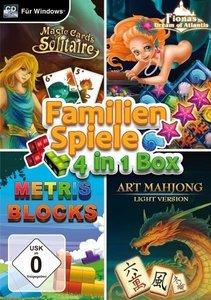 Familienspiele- 4in1 Box. Für Windows Vista/7/8710