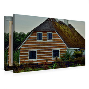 Premium Textil-Leinwand 75 cm x 50 cm quer Reethaus in Hesnæs