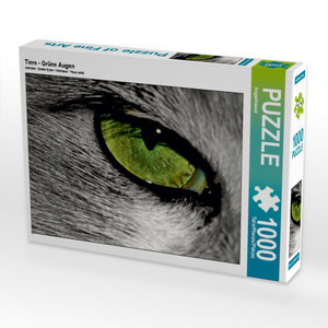 Tiere - Grüne Augen 1000 Teile Puzzle quer