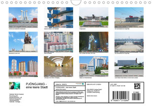 PJÖNGJANG Streifzug durch eine leere Stadt (Wandkalender 2020 DI