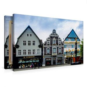 Premium Textil-Leinwand 75 cm x 50 cm quer Hausfassaden an der O