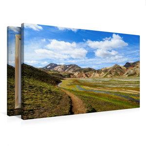 Premium Textil-Leinwand 75 cm x 50 cm quer Laugarvegur-Trail Isl