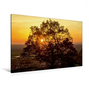 Premium Textil-Leinwand 120 cm x 80 cm quer Sonnenuntergang über