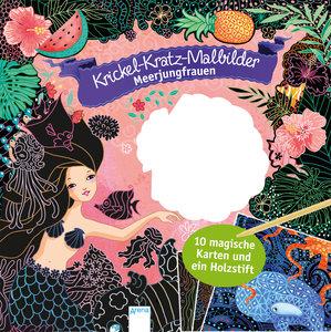 Krickel-Kratzel-Malbilder. Meerjungfrauen
