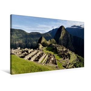 Premium Textil-Leinwand 75 cm x 50 cm quer Machu Picchu - Die In