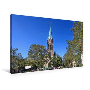 Premium Textil-Leinwand 90 cm x 60 cm quer Johanneskirche