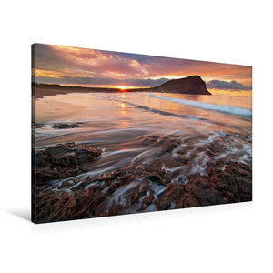Premium Textil-Leinwand 90 cm x 60 cm quer Tejita Sunrise