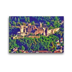 Premium Textil-Leinwand 45 cm x 30 cm quer Heiligenbergturm: Bli