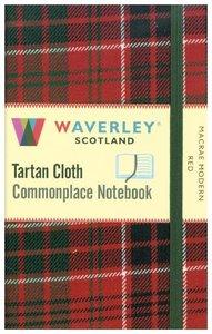 Macrae Modern Red: Waverley Genuine Tartan Cloth Pocket Commonpl