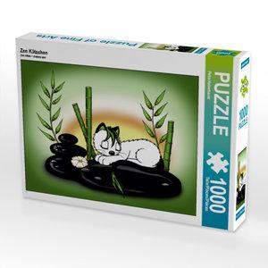 CALVENDO Puzzle Zen Kätzchen 1000 Teile Lege-Größe 64 x 48 cm Fo