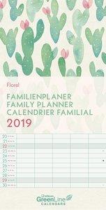 Floral 2019 GreenLine Familienplaner