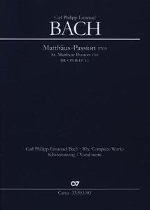 Passions-Musik nach dem Evangelisten Matthäus, Klavierauszug