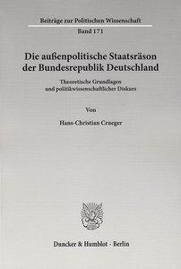 Die außenpolitische Staatsräson der Bundesrepublik Deutschland