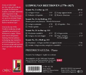 Klaviersonaten op.2,2/27,2/110/111