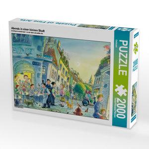 CALVENDO Puzzle Abends in einer kleinen Stadt 2000 Teile Lege-Gr