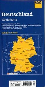 ADAC LänderKarte Deutschland 1:750 000