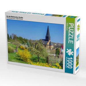 CALVENDO Puzzle An der Molmecker Kirche 1000 Teile Lege-Größe 64