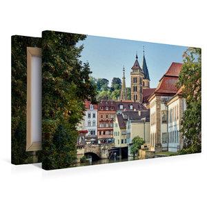 Premium Textil-Leinwand 45 cm x 30 cm quer Altstadt und Stadtkir