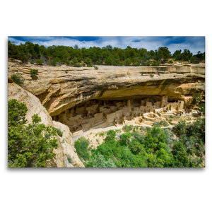 Premium Textil-Leinwand 120 cm x 80 cm quer Mesa Verde NP