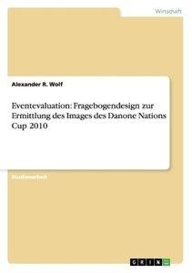 Eventevaluation: Fragebogendesign zur Ermittlung des Images des