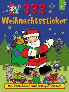 333 Weihnachtssticker (Weihnachtsmann)