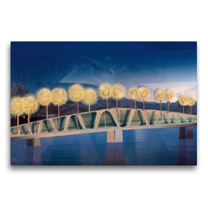 Premium Textil-Leinwand 75 cm x 50 cm quer Die Brücke