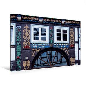 Premium Textil-Leinwand 120 cm x 80 cm quer Das Doktorhaus in Bl