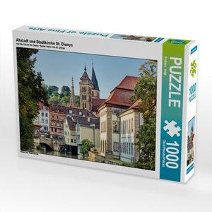 Altstadt und Stadtkirche St. Dionys 1000 Teile Puzzle quer