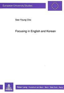 Focusing in English and Korean