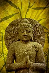 Premium Textil-Leinwand 50 cm x 75 cm hoch Buddha - Asien für d