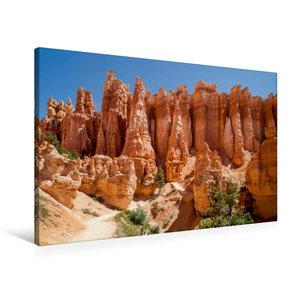 Premium Textil-Leinwand 90 cm x 60 cm quer UTAH Bryce Canyon Hoo