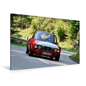 Premium Textil-Leinwand 120 cm x 80 cm quer Lancia Fulvia HF Bj