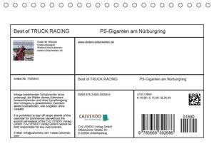 Best of TRUCK RACING (Tischkalender 2018 DIN A5 quer)