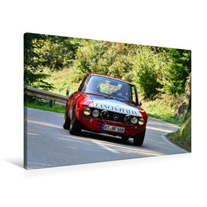 Premium Textil-Leinwand 90 cm x 60 cm quer Lancia Fulvia HF Bj.