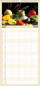 Pasta Kreationen - Familienplaner hoch (Wandkalender 2020 , 21 c