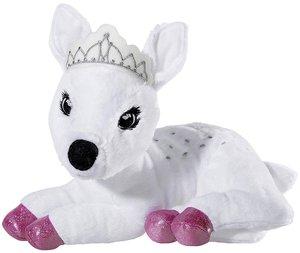 Heunec 751675 - Crownie Rehkitz, liegend, 30 cm, weiß, Plüschtie