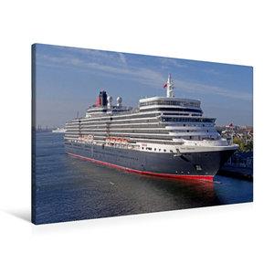Premium Textil-Leinwand 90 cm x 60 cm quer Kreuzfahrtschiff QUEE