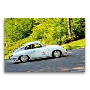 Premium Textil-Leinwand 75 cm x 50 cm quer Porsche 356 C - 1964