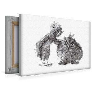 Premium Textil-Leinwand 45 cm x 30 cm quer Stan und Oliver