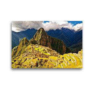 Premium Textil-Leinwand 45 cm x 30 cm quer Macchu Picchu