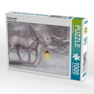 Schneewache 1000 Teile Puzzle quer
