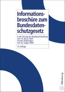 Informationsbroschüre zum Bundesdatenschutzgesetz