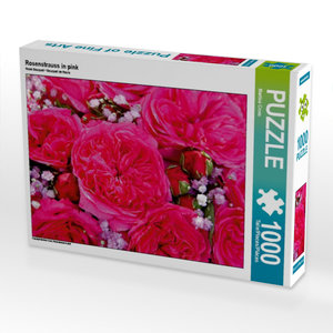 Rosenstrauss in pink 1000 Teile Puzzle quer