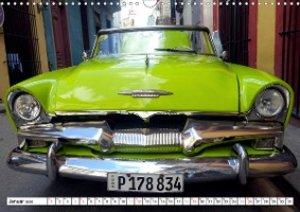Plymouth Convertible 1955 - Ein Traum in Grün (Wandkalender 2020