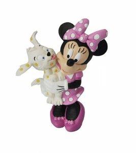 Bullyland 15329 - Walt Disney, Minnie mit Hund, Spielfigur, 7 cm