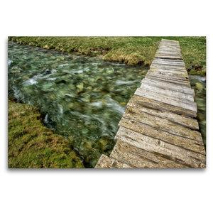 Premium Textil-Leinwand 120 cm x 80 cm quer Naturbrücke