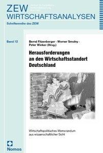Herausforderungen an den Wirtschaftsstandort Deutschland